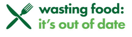 Wasting food: It's out of date logo