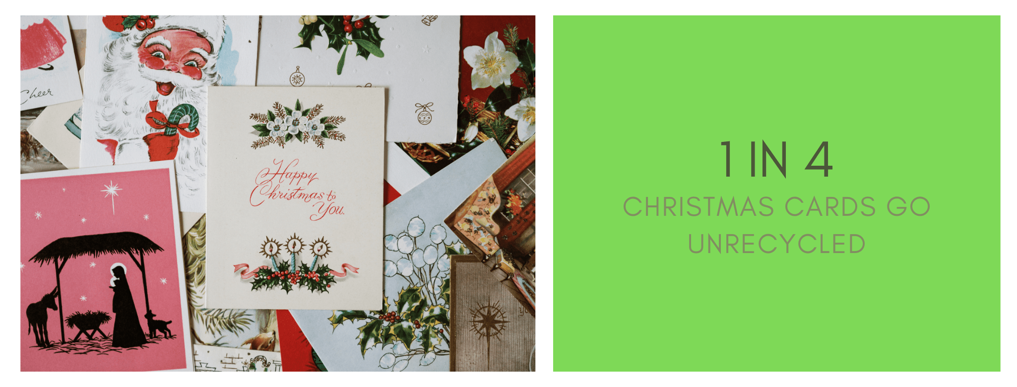 1 in 4 Christmas cards go unrecycled