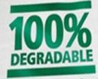 plastic bag marked 100% degradable