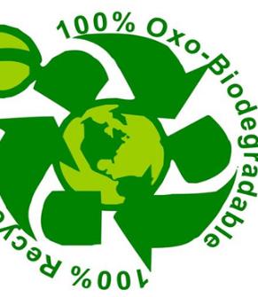 Oxo-biodegradable plastic sample logo