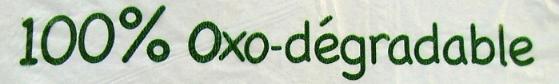 Oxo-degradable plastic item