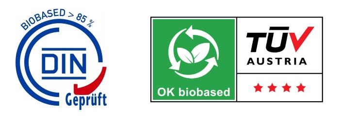 Biobased plastics logos