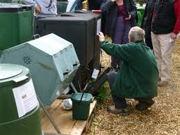 Image of compost bins at Stokes Drive allotments in Leicester where the event is taking place.