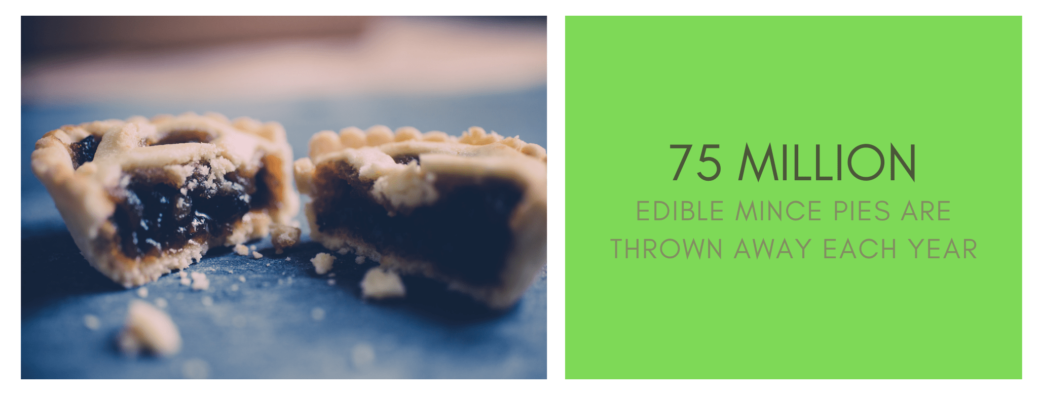 75 million edible mince pies are thrown away each Christmas