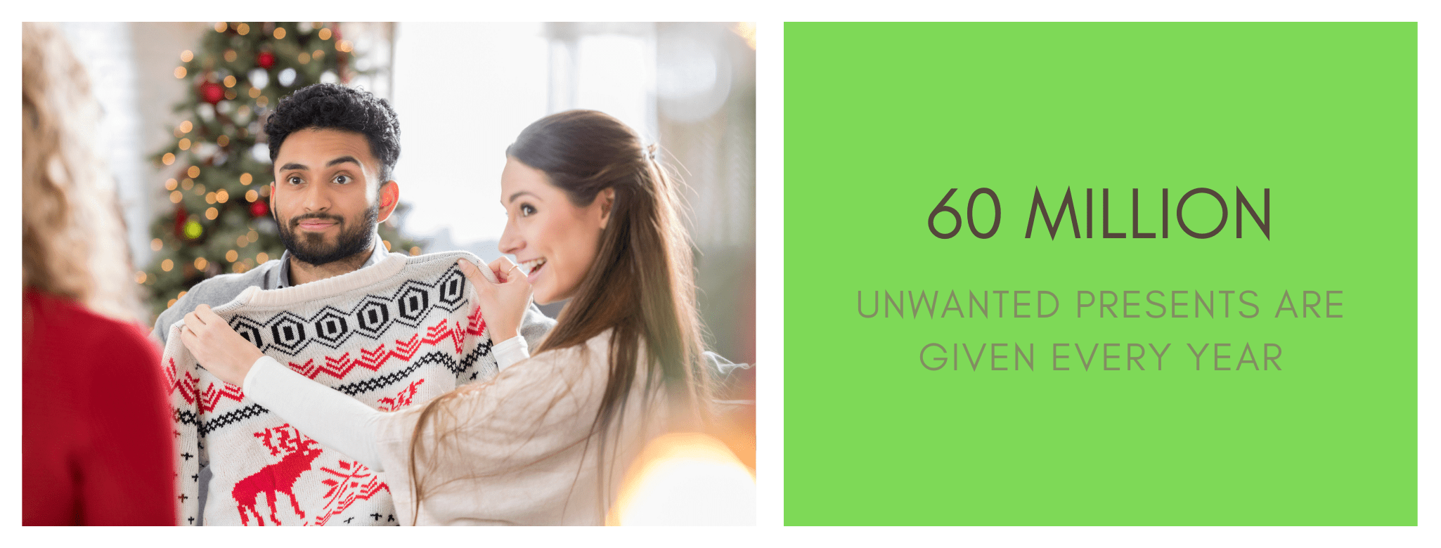 60 million unwanted presents are given each Christmas.